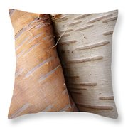 Paper Birch Bark Throw Pillow