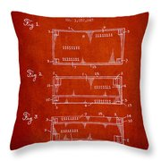 Paper Currency Patent From 1962 - Red Throw Pillow