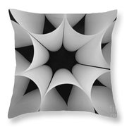 Paper Flower Black And White Throw Pillow