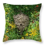 Paper Hornet Nest Throw Pillow