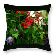 Paper Kite Butterfly II Throw Pillow