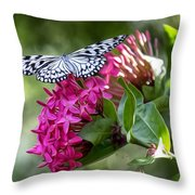 Paper Kite On Fluid Blossoms Throw Pillow