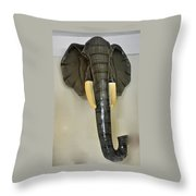 Paper Mache Elephant By Sergio Bustamante Throw Pillow