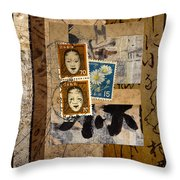 Paper Postage And Paint Throw Pillow