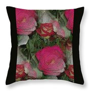Paper Roses Throw Pillow