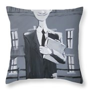 Paperman #1 Throw Pillow