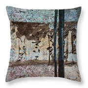 Papers And Inks Throw Pillow by Carol Leigh