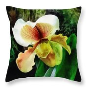 Paph Hellas Westonbirt Orchid Throw Pillow