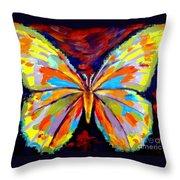 Papillon Colore Throw Pillow