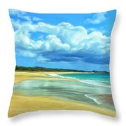 Papohaku Beach Molokai Throw Pillow