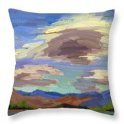 Papoose Lake And Clouds Throw Pillow
