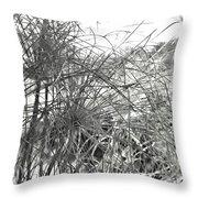 Papyrus Black And White Throw Pillow