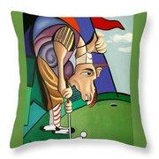 Par For The Course Throw Pillow