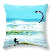 Para-surfer   Throw Pillow by CHAZ Daugherty