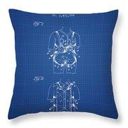 Parachute Harness Patent From 1922 - Blueprint Throw Pillow