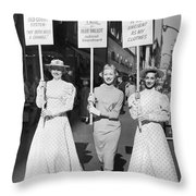 Parade For Court Reform Throw Pillow