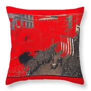 Parade Honoring General Eisenhower On June 29 1945 In New York City Throw Pillow