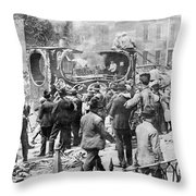 Parade Of Ringling Circus Featuring Throw Pillow