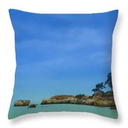 Paradise Beach Throw Pillow by Marco Oliveira
