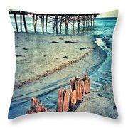 Paradise Cove Pier Throw Pillow
