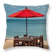 Paradise Dining Throw Pillow