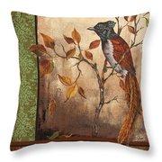 Paradise Flycatcher Throw Pillow