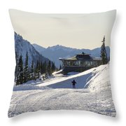 Paradise Found And Lost - Mt. Rainier Throw Pillow