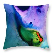 Paradise Found - Colorful Abstract Painting Throw Pillow