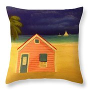 Paradise In Pink Throw Pillow