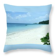 Paradise Is Here Throw Pillow