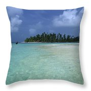 Paradise Island 1 Throw Pillow