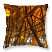 Paradise Lodge Mt Rainier Natl Park Throw Pillow