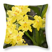 Paradise Orchid  Throw Pillow by Sonali Gangane