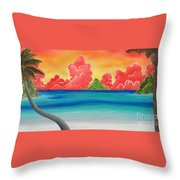 Paradise Panorama Throw Pillow