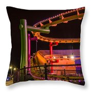 Paradise Park At Night Throw Pillow