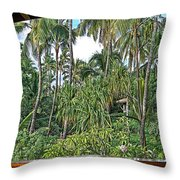 Paradise Patio Throw Pillow