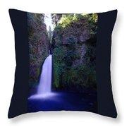 Paradise Pours Wanclella Falls Oregon Throw Pillow