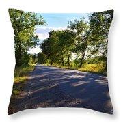 Paradise Road Throw Pillow