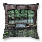 Paradise Springs Spring House Interior 4 Throw Pillow