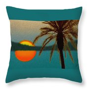 Paradise Sun Throw Pillow