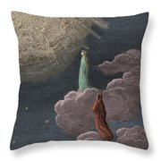Paradiso  Canto Fourteen Throw Pillow