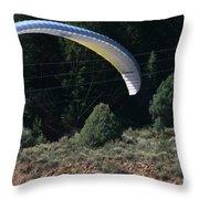 Paragliding Hazards Throw Pillow