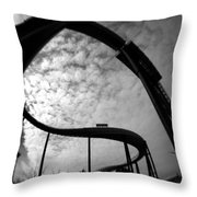 Parallel Lines Composition Throw Pillow