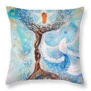 Paramhansa Yogananda - Mist Throw Pillow