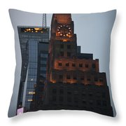 Paramount Building Times Square Throw Pillow