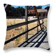 Paramount Ranch Bridge Throw Pillow