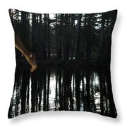 Paranormal Activity Throw Pillow by Donna Blackhall