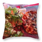 Sous Le Parasol Rouge Throw Pillow
