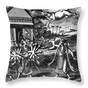 Parasurama, Sixth Avatar Of Vishnu Throw Pillow