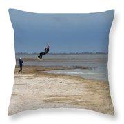 Parasurfer2 Throw Pillow by Rrrose Pix